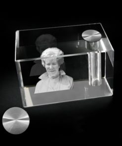 Glazen urn/asbestemming (rechthoek)