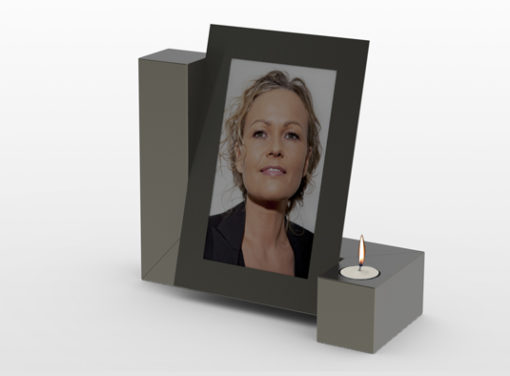 RVS urn Photo Candle