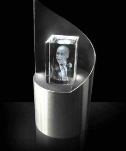 RVS voet voor glas (boog)