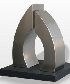 RVS urn Arms ( ook verkrijgbaar in het brons )