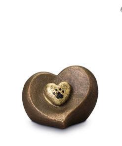 Klei urn dieren, hart met hondenpootje