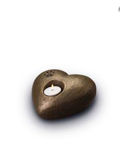 Klei urn dieren, hart met waxinelichtje