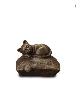 Klei urn dieren, kat op kussen