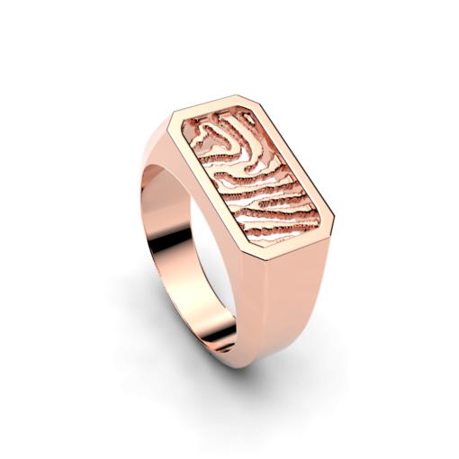ring met vingerafdruk