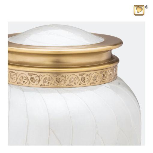 Premium urn wit met gouden decoratie A290 zoom