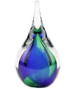 Glazen urn druppel