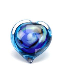 Glazen mini urn hart