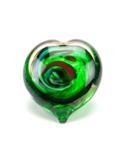 Glazen mini urn groen