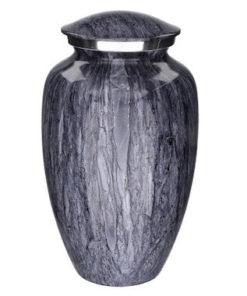 Aluminium urn granietlook blauw