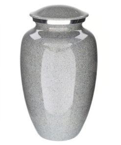 Aluminium urn granietlook grijs