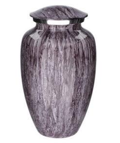 Aluminium urn granietlook paars