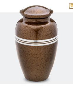 Klassieke urn gespikkeld bruin A214