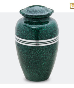 Klassieke urn gespikkeld groen A213