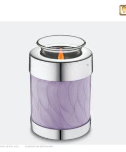 Love Urn waxinelichthouder lavendel met zilver T670